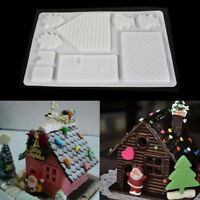 Baking Tools 3D Christmas Gingerbread House Set Mold Chocolate Cake Mould Cake