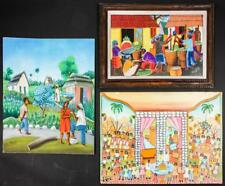 3 Haitian Paintings (20th c.) by Various Artists Lot 222