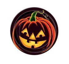 Halloween Party Supplies Jack-O-Lantern Plates Pack of 8 Pumpkin Grin Spooky
