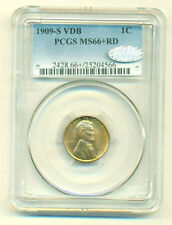 1909-S VDB PCGS MS66+ RED Lincoln Cent Wheat 1C