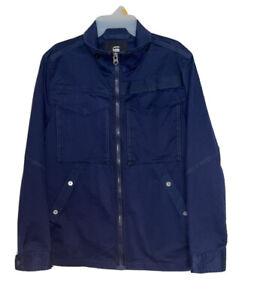 Men's G Star Raw Deline Overshirt, Sartho Blue (L)