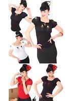 SugarShock Pin Up 40s retro Noellin Gypsy Carmen Blusenshirt Rockabilly Shirt