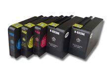 SET 5x TINTEN PATRONE SCHWARZ COLOR für HP Officejet 7110, 7510 All-In-One