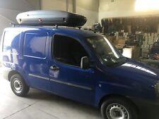 BAULE DA TETTO 480Lt+BARRE Box Auto Portatutto Portabagagli BA480 su Fiat Doblò