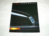 Original 1989 Chevrolet Full Line Deluxe Sales Brochure 89 Chevy Corvette Camaro