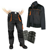 Classic Mens WORK TROUSERS Pants KNEE PADS Cargo Combat Multi Pocket +JACKET opt