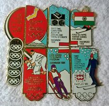 TOKYO/INNSBRUCK 1964 7 PIN SET PART 1996 COCA COLA HISTORIC OLYMPIC 100 PIN SET