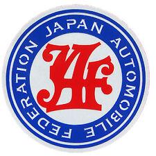 JAF Japan Automobile Federation JDM Round stickers decals racing emblems logo V2