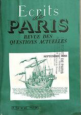 """REVUE """" ECRITS DE PARIS """" PERIODIQUE FRANCAIS EXTREME DROITE 1988"""