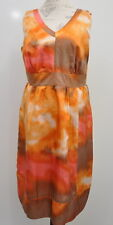 Avenue Women's Size 14 Limited Edition silk Dress Summer Bright Bold New $69