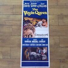 "Bette Davis * Joan Collins  ""The Virgin Queen"" Richard Todd 1955  Poster Insert"