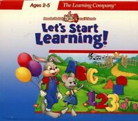 Reader Rabbit Let's Start Learning Pc New Cd Only Sealed In Paper Sleeve XP