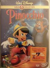 Pinocchio (DVD, 1999, Limited Issue) GOLD COLLECTION RARE SEALED free shipping
