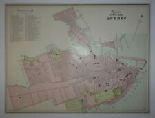 1897 Map of the City of Quebec