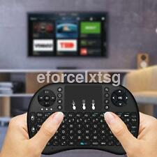 Black 2.4G Wireless Keyboard Air Mouse Remote Control Touchpad For PC TV Box UK