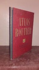 1951 ATLAS ROUTIER PEUGEOT DRAEGER FRERES 9 PLANCHES CARTES CAHIER SPIRALES