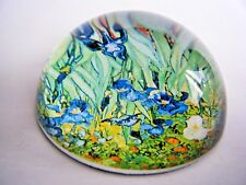 Glass Dome Paperweight Irises By Vincent Van Gogh New In Gift Box