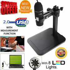 8LED 1000X 10MP USB Digital Microscope Endoscope Magnifier Camera With Stand