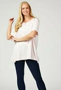 Frank Usher Crystal Embellished T Shirt Qvc  Pink  Size  Small/ Medium RRP  £25