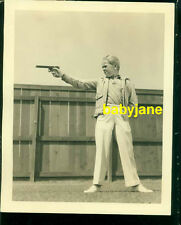 JACKIE COOPER VINTAGE 8x10 PHOTO CHILD STAR SHOOTS GUN IN YARD DOUBLE WEIGHT