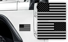 Black Ops AMERICAN FLAG Fender Stickers Jeep Wrangler USA Flags Decals JK TJ XJ