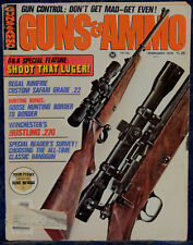 Magazine GUNS & AMMO February 1976 !Germany LUGER 1920 Commercial Model PISTOL!