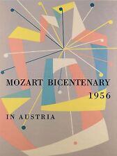 ART PRINT POSTER MUSIC EVENT ADVERT MOZART BICENTENARY AUSTRIA NOFL0725
