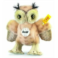 """STEIFF Whittie Owl 4.33"""" (11cm)Spotted Beige MOHAIR Standing NonJointed"""