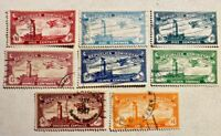 DOMINICAN REPUBLIC - AIRMAILS - USED - VF (SEE PHOTO) SCOTT #'S C10 - C17