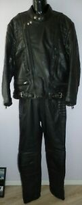 Richa Motorrad Cruiser Leder Kombi (Echtleder) Vintage Retro Jacke Gr. 58 XXL