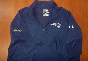 Under Armour NFL New England Patriots Combine Authentic 1/4 Zip Shirt XL ~NEW~