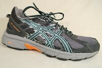 Asics Gel-Venture 6 Gray Blue Orange Mesh Athletic Running Sneaker Shoes Women 9