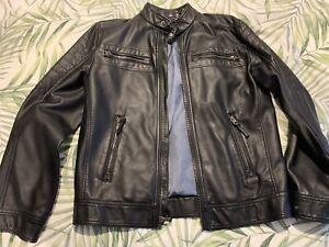 Calvin Klein Mens Leather Jacket