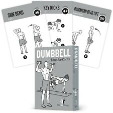 EXERCISE CARDS DUMBBELL Home Gym Workouts Strength Training Building Muscle T...