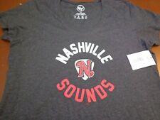 NASHVILLE SOUNDS BASEBALL  '47 Brand Black Womens  Large  T-Shirt New  L19