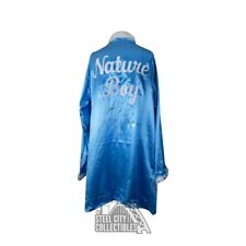 Ric Flair Autographed w/ Inscription Blue Feather Nature Boy Robe - JSA COA