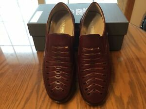 "Men's ""Stacy Adams"" Orion Moc-toe Slip-on Loafers, Size 10.5M, Red."