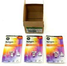 3 Pack GE 25197 Halogen 20W 12V Indoor Flood Light 20 Watts GU4 Base MR11