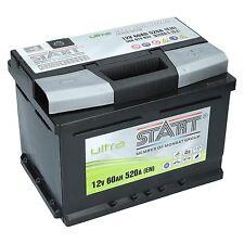 EXTREME 12V 60 Ah Starterbatterie ULTRA SMF 60Ah bis zu 130% Leistung
