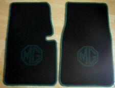 MG Midget Tapis de sol en moquette noir/vert