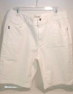 Nice Pair of Women's White Size 16 St. John's Bay Stretch Shorts EUC