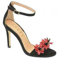 Ravel Conway Nude Black Stiletto High Heel Evening sandals Party Shoes UK Size 4