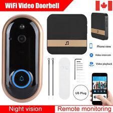 Smart Wireless WiFi Doorbell Video Camera Phone Bell Intercom Home Security CA