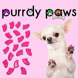 Soft Nail Caps For Dog Claws ( LIPSTICK PINK ) * Purrdy Paws * 6 Sizes up to XXL