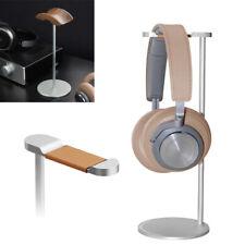 Luxury Aluminum Earphone Stand Headset Holder Desktop Headphone Hanger Wood Hook