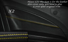 YELLOW STITCH 2X REAR DOOR CARD TRIM LEATHER COVERS FITS VW SCIROCCO 2008-2014