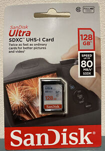 San Disk ULTRA SDXC UHS-I Card 128GB Speed Up To 80MB/s - BRAND NEW!!