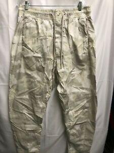 NIKE NSW WOVEN PANTS CAMO LIGHT BONE OFF WHITE SZ L 930253-121 dunk b17