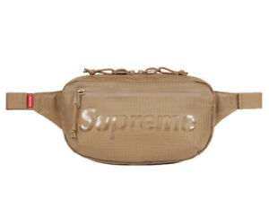 SUPREME WAIST BAG TAN OS SS21 (IN HAND) 100% AUTHENTIC BRAND NEW
