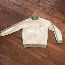 Billabong Full ZIP Track Jacket Mens Large BEIGE/TAUPE STRIPE